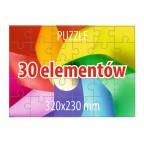 Puzzle 30 elementów - 100 sztuk