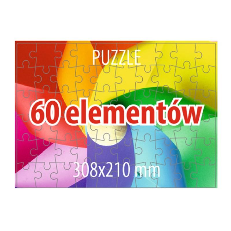 Puzzle 60 elementów - 100 sztuk