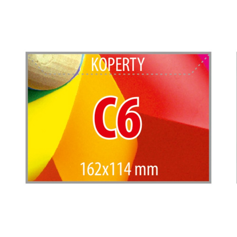 Koperty C6 - 250 sztuk