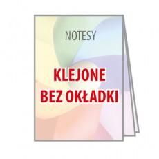 Notesy klejone bez okładki