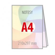 Notesy klejone bez okładki A4
