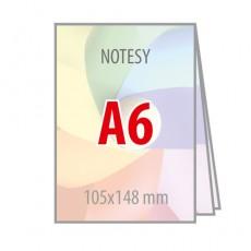 Notesy klejone bez okładki A6
